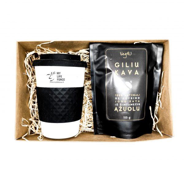 dovanų rinkinys su gilių kava